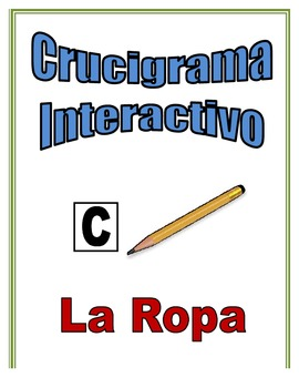 Spanish Clothing Interactive Crossword Puzzle, Speaking Activity
