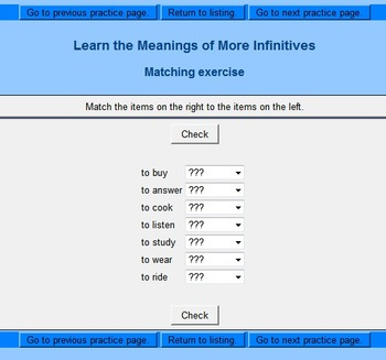 Spanish Interactive Exercises -- Present Tense of Regular -ar Verbs