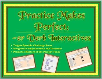 Spanish Interactive Exercises -- Present Tense of Regular -er Verbs