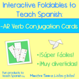 Spanish Interactive Foldable:  -AR Conjugation Cards