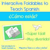 Spanish Interactive Foldable:  ¿Cómo estás?