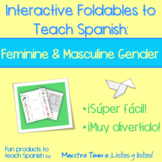 Spanish Interactive Foldable:  Feminine & Masculine Gender