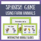 Spanish Interactive Game--Farm Animals, Greetings & Goodbyes