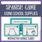 Spanish Interactive Game--School Supplies