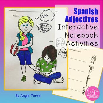 Spanish Interactive Notebook Activities: Adjectives / Los adjetivos