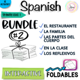 Spanish Distance Learning Interactive Notebook Activities