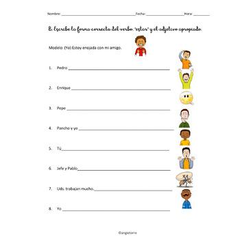 Spanish Interactive Notebook Activities: Estar Emotions & Places