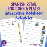 Spanish Interactive Notebook Activities   Estar Emotions & Places