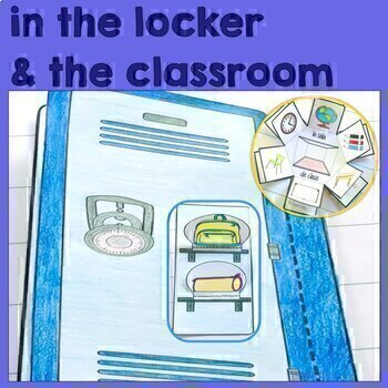 Spanish LA CLASE School and Classroom Supplies Interactive Notebook Activity