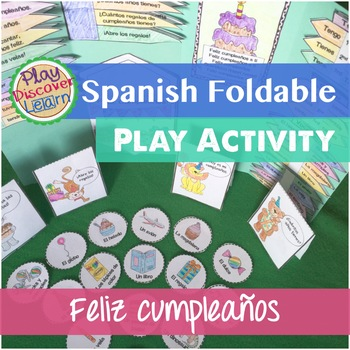 Spanish Interactive Notebook or Folder Activity Feliz Cumpleaños