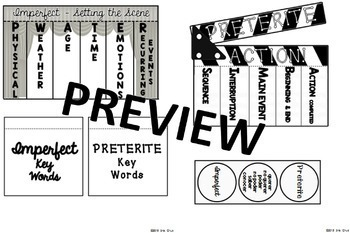 Spanish Interactive Notebook Activity:  Preterite and Imperfect