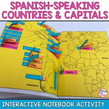 Spanish Speaking Countries Map To Color In Teaching Resources ...