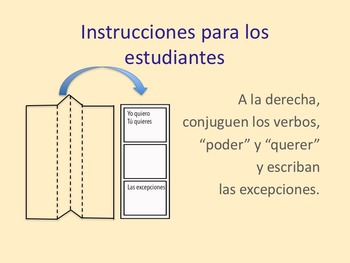 Spanish Interactive Notebook Activity for How to Use Two Verbs in a Sentence