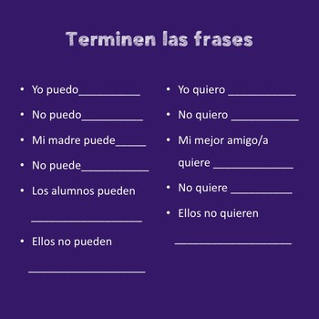 Spanish Interactive Notebook Activities for How to Use Two Verbs in a Sentence