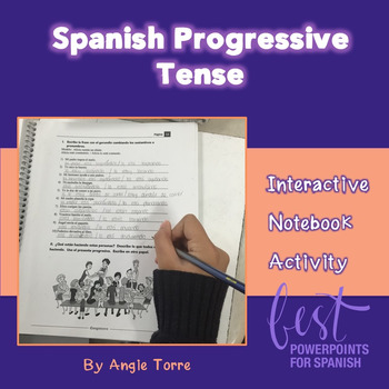Spanish Interactive Notebook Activity for the Present Progressive Tense