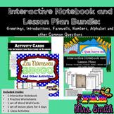 Spanish: Interactive Notebook Bundle: Greeting, Intros, AB