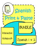 Spanish Interactive Notebook Bundle The Print and Paste Co