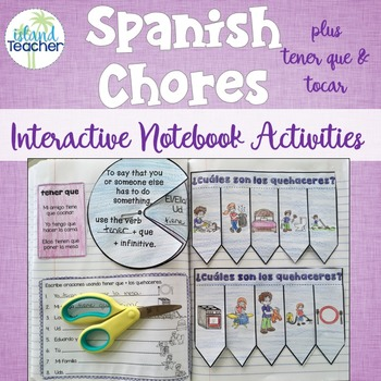 Spanish Interactive Notebook Chores