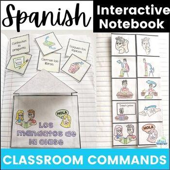 Spanish Interactive Notebook Classroom Commands