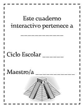 Spanish Interactive Notebook Cover Page