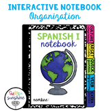 Spanish Interactive Notebook Cover and Organization Freebie