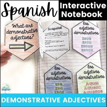 Spanish Interactive Notebook Demonstrative Adjectives