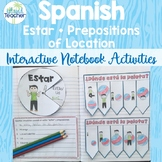 Spanish Interactive Notebook Estar Plus Prepositions
