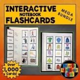 Spanish Interactive Notebook Flashcards Mega Bundle, Verbs, Vocabulary