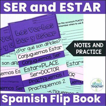 Spanish Interactive Notebook Flip Book Ser vs. Estar