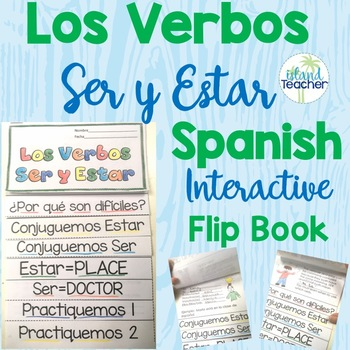 Spanish Interactive Notebook Flip Book Ser vs. Estar
