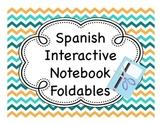 Spanish Interactive Notebook Fold-Its - Beginning Set
