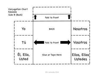 Spanish Interactive Notebook Fold-Its - Beginning Set