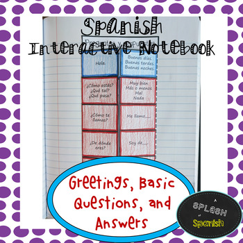 Spanish Interactive Notebook: Greetings and Conversation Questions