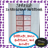 Spanish Interactive Notebook: Greetings and Conversation Q