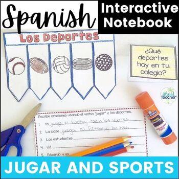 Spanish Interactive Notebook Jugar plus Los Deportes