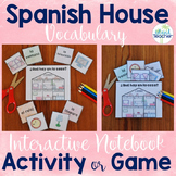 Spanish Interactive Notebook La Casa Activity or Game