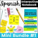 Spanish Interactive Notebook Lesson Mini Bundle 1