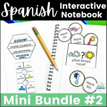 Spanish Interactive Notebook Lesson Bundle 2