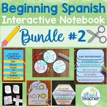 Spanish Interactive Notebook Lesson Bundle 2