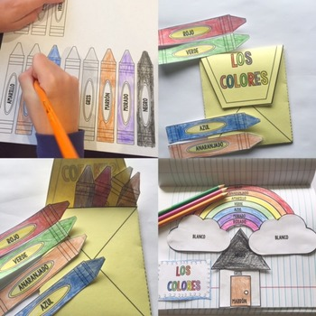 Spanish Interactive Notebook Los Colores Colors