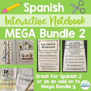 Spanish Interactive Notebook MEGA BUNDLE 2