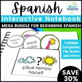 Spanish Interactive Notebook MEGA Bundle for Beginning Spanish