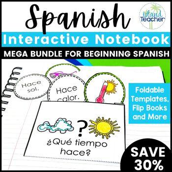 Spanish Interactive Notebook MEGA Bundle 1 for Beginning Spanish