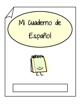 Spanish Interactive Notebook Label Mi Cuaderno