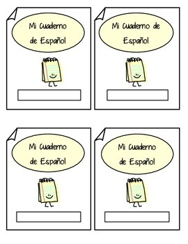 Spanish Interactive Notebook Label Mi Cuaderno