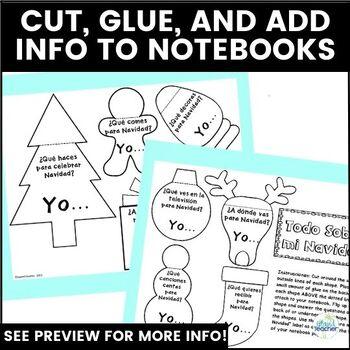 Spanish Interactive Notebook: Preguntas para Navidad