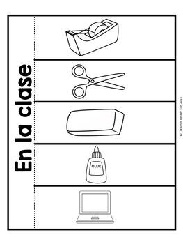 Spanish Interactive Notebook-School Supplies- La Escuela