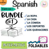 Spanish Distance Learning Interactive Notebook Activities BUNDLE