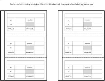 Spanish Interactive Notebook Verbs Flapbook (Irregular Present Tense)