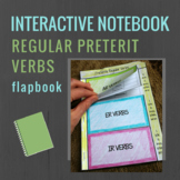 Spanish Interactive Notebook Verbs Flapbook (Regular Prete